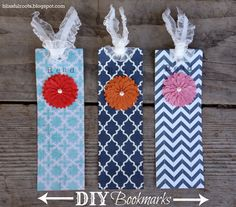 BLISSFUL ROOTS:  DIY Bookmarks