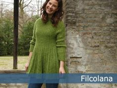 Bretagne | Filcolana- top down knitted tunic that can be easily lengthened to a knitted dress. Free pattern.