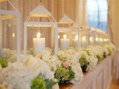 lanterns, candles and flowers