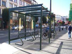mec bike shelter complete by Luton, via Flickr