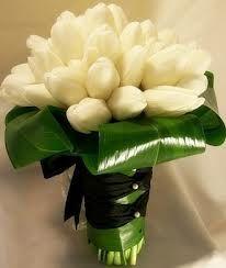 bouquet tulipani bianchi