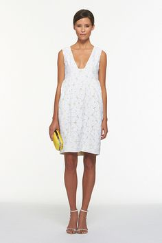 DVF Clydeena Flower Lace Dress | This dress is absolutely gorgeous! The lace is beautiful and the underlay is so happy and bright. My fave LWD!
