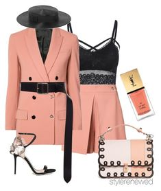 """""""Untitled #607"""" by sherristylz on Polyvore featuring Alexander Wang, Giuseppe Zanotti, Fendi, Alexander McQueen and Yves Saint Laurent"""