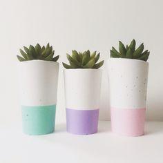 Shop: www.nothingbutvintage.com.au ➕ Urban Decor Homewares concrete succulent planters. Find us on Instagram. We wholesale & freight Australia wide. Pastel crush!