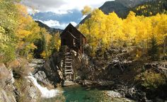 """The Old Crystal Mill near Marble, Colorado."" (From: 55 Incredibly Beautiful Photos of Fall)"