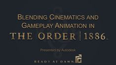 Ready At Dawn Studios developed next-gen engine technology which allowed us to seamlessly blend gameplay and cinematics in The Order: This presented ne. Run Cycle, Maya, Engine, Studios, Tutorials, Animation, Technology, Youtube, Tech
