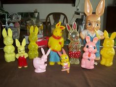 Vintage Plastic Easter Bunnies Rabbits Candy Holders Lot of 11 | eBay
