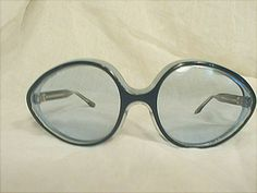 French Blue & Black Large Framed Glasses