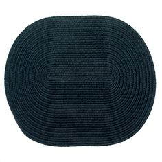RhodyRug Solid Navy Braided Rug - 12