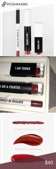 REALHER I AM FABULOUS LIP KIT DEEP RED Never been used, still in original packing.  Lip Kit with 1 liquid Lipstick, lip gloss, and lip liner.   Comes from pet and smoke free home. REALHER Makeup Lipstick