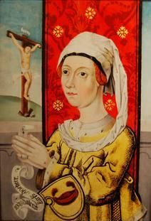 Magdalene of Sweden c 1495 (color) - Magdalena Karlsdotter (Bonde) – Wikipedia 15th Century Dress, 15th Century Fashion, Medieval Times, Medieval Art, Romain Gary, Old Portraits, Photo New, Renaissance Fashion, Medieval Clothing