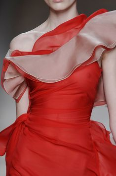 valentino - wonderful use of color, fabric and  clothing design.  He is a genius.