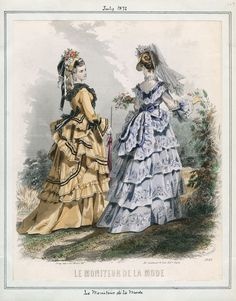 Fashion Plate - Le Moniteur de la Mode, circa 1872