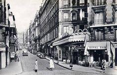 rue des Martyrs - Paris 9ème/18ème La rue des Martyrs dans les années 1950.