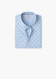 Camisa slim-fit algodón estampada - Camisas de Hombre  24264176b8573