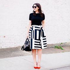 black + white + red