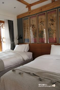 bedroom with traditional Korean influences; Cheongsongjae (청송재) Hanok Hotel