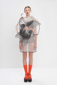Ideas Fashion Design Inspiration Dresses Wearable Art For 2019 3d Fashion, Look Fashion, Fashion Details, High Fashion, Ideias Fashion, Womens Fashion, Fashion Trends, 3d Printed Fashion, Geometric Fashion