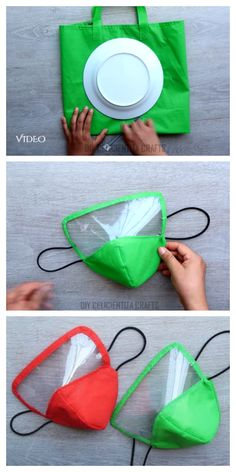 DIY Fabric Face Mask Using Plate + Video masks diy sewing Sewing Patterns Free, Free Sewing, Free Pattern, Hand Sewing, Easy Face Masks, Diy Face Mask, Sewing Hacks, Sewing Projects, Sewing Tips