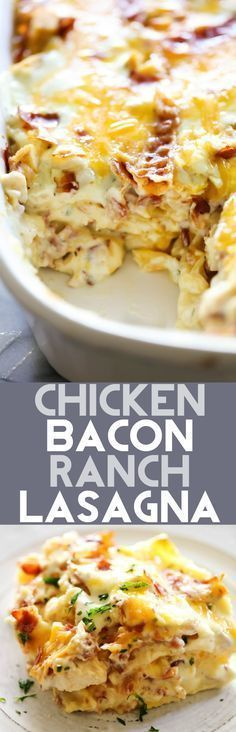 This Chicken Bacon Ranch Lasagna is such a unique and DELICIOUS spin on a classic. It is packed with flavor and yummy ingredients. This will become an instant family favorite and one you want to make over and over again!
