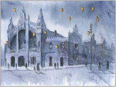 Market Hall in Chorzow by *sanderus on deviantART