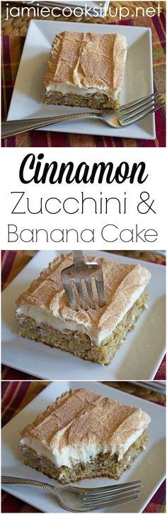 Cinnamon Zucchini and Banana Cake from Jamie Cooks It Up!
