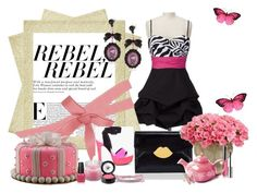"""Rebel"" by miiss-luvy ❤ liked on Polyvore featuring Barbara Bui, Lulu Guinness, Tarina Tarantino, By Terry, Avon, OPI, Beauty Is Life, Bijules and 80s fashion"