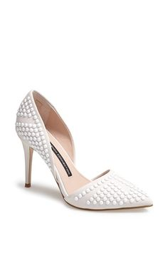 Love this French Connection studded heel.  Pattern and texture all wrapped into a classic silhouette.