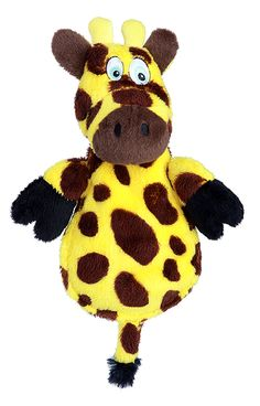 Giraffe Ultasonic Squeaker Stuffed Dog Toys ~ A squeaker only your dog can hear ~ Same sensation and enjoyment of traditional sqeaky toys without irritating noise | Hear Doggy