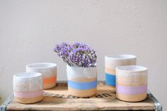 Stripes Collection by Michelle Luu Pottery