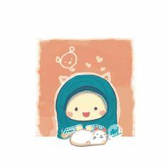 Muslim Pictures, Islamic Cartoon, Anime Muslim, Hijab Cartoon, Kawaii Illustration, Disney Tangled, Bare Bears, Muslim Girls, Cute Chibi