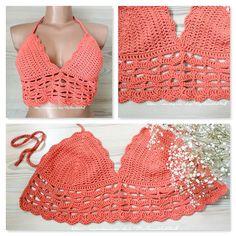 Crochet Bralette Top Pattern Crochet Crop Top by MyBeautifulStuff