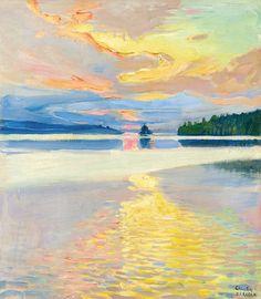 """Sunset Over Lake Ruovesi"" by Akseli Gallen-Kallela"