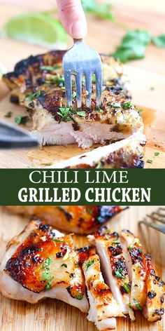 Chili Lime Grilled Chicken - moist and delicious chicken marinated in chili and lime and grilled to golden perfection in this easy recipe that takes 30 mins