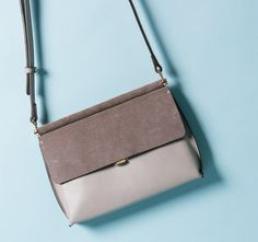 Leather and Suede Mini Crossbody Bag