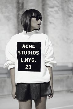 Acne Studios Sweatshirt + skirt