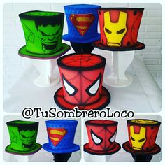 #Sombreros #superheroes #comics #fiestastematicas #boda #arteengomaespuma #TuSombreroLoco Crazy Hat Day, Crazy Hats, Mad Tea Parties, Tea Party, Easter Bonnets For Boys, Old Lady Costume, Cardboard Costume, Homecoming Spirit Week, Mad Hatter Costumes