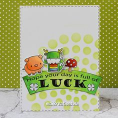 A good luck card that works for man and women. You can find more pictures, a recipe on how to make this card and a list of supplies on my blog!  Happy crafting ;o)  www.maikreations.de  maikreations