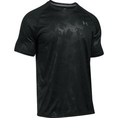 Under Armour Men's UA Tech Emboss T-shirt (Black 02, Size X Large) - Men's Athletic Apparel, Men's Athletic Performance Tops at Academy Sports