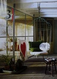 Stunning bird cage hanging chair