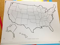 States And Capitals Free Blank U S Map Might Be Nice For Crafts Later On
