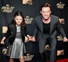 Hugh Jackman y Dafne Keen Logan y Laura
