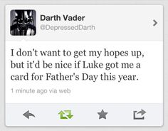 Darth Vader's special tweet :)