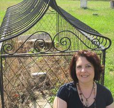 That's me at the caged grave of Asenath Thomas.