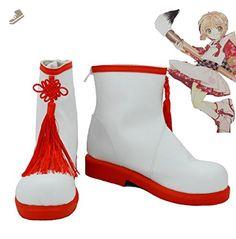 SAKURA KINOMOTO Cosplay Shoes Boots Custom Made White - Telacos sneakers for women (*Amazon Partner-Link)