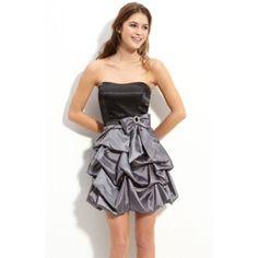 Trixxi Taffeta Strapless Sweetheart Dress