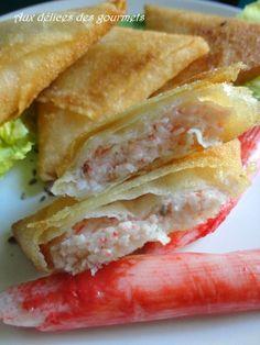 """Voici des samoussas  au fromage  blanc et au  surimi  suprême goût frais langouste  """" nouveauté coraya 2016 """".  Ces samoussas peuvent ..."""