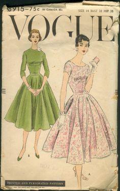 Vogue 8915, ca 1956; Sz 14/Bust 32