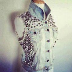Jean spike n studded jacket