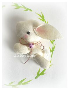 BUNNY (PDF) This adorable Bunny is just perfect to be part of a cute baby mobile or as a present for someone special in your life! As always quick, easy and fun to make. This PDF document will give you instructions and patterns to hand-sew a lovely 4x3.5 inches BUNNY RABBIT. **You will receive an electronic file with pattern and instructions. No physical items will be sent** This PDF includes: • List of materials needed (all easy to find) • List of tools to be used • Photo tutorial • Full...